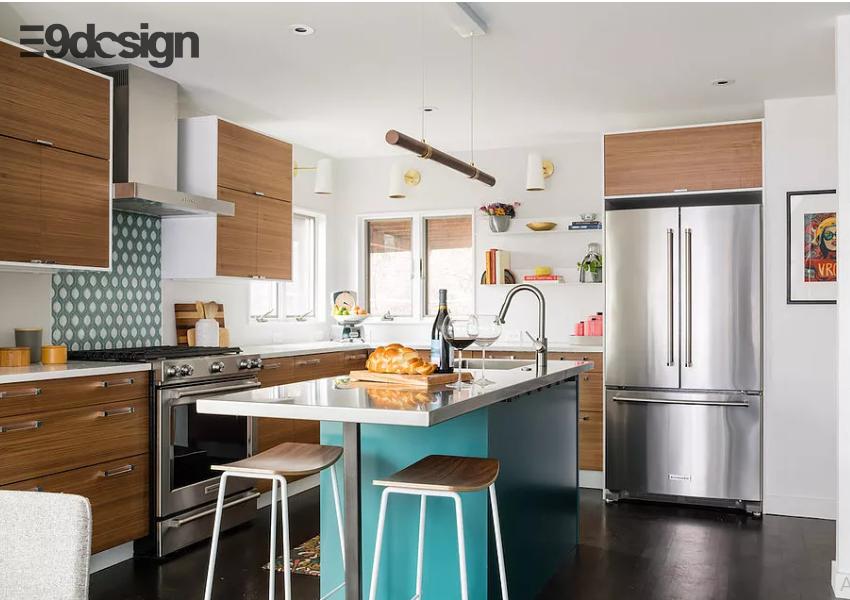 tủ bếp biệt thự phong cách hiện đại